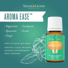 Young Living Essential Oils:  Aroma Ease | AromaEase has a nurturing, comforting aroma when applied to your neck and chest.  For more information and to get yours, visit:  WWW.THESAVVYOILER.COM