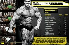 The ultimate leg routine by Jay Cutler.
