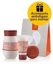 Presente Natura Tododia Ameixa e Flor de Cerejeira - Creme Hidratante + Desodorante Hidratante + Sabonete + Embalagem