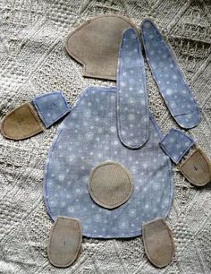 How to DIY Cute Bunny Pillow from Free Template - Rice Recipes - Rice Recipes Diy Rag Dolls, Baby Sewing Projects, Sewing Art, Cute Diys, Baby Kind, Cute Bunny, Softies, Pet Toys, Diy Gifts