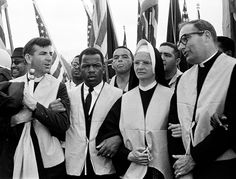Civil rights leaders, nuns and priests from all over the country join the march.