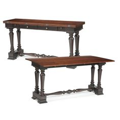 Wakefield Drop Leaf Console Table With Two Drawers Amp One