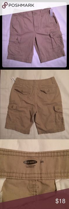 NWT Old Navy men's khaki cargo shorts NWT men's Old Navy tan khaki cargo shorts size 28. Brand new, never worn. Perfect condition! Bought these for my son, but they were too small. Old Navy Shorts Cargo