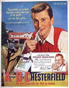 Kirk Douglas for Chesterfield Cigarettes