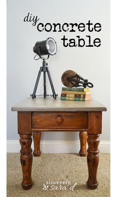 How to make a concrete table top - it's EASY and it requires no special tools!