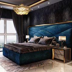 Modern Luxury Bedroom, Luxury Bedroom Design, Bedroom Bed Design, Modern Bedroom Decor, Bedroom Furniture Design, Home Room Design, Luxurious Bedrooms, Interior Design, Bedroom Designs