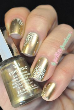Mavala rose gold nailart