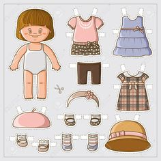 Illustration about Dress up cute paper doll with body template. Vector set of clothes. Illustration of circle, dress, game - 43494530 Girls Dress Up, Dress Up Dolls, Baby Dress, Doll Clothes Patterns, Clothing Patterns, Body Template, Dress Template, Fun Baby Announcement, Wonderful Day