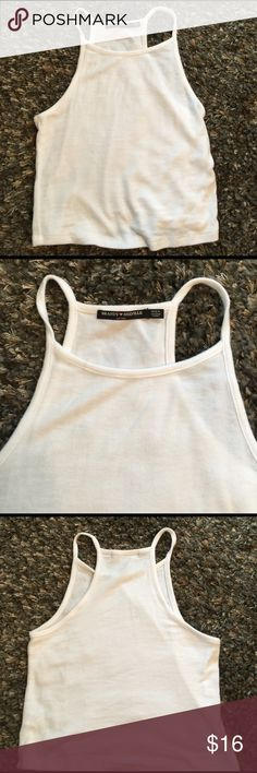 Brandy Melville cropped strappy tank, OS Bought two of these , rarely wear the other , so I'm letting this one go .... 👋🏻 Brandy Melville Tops Crop Tops