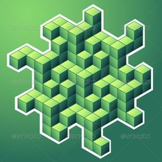 Isometric Cubes by varela Isometric figure. Fully editable EPS10 or AI cs2 vector illustration. It can be scaled to any size.