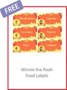Winnie the Pooh Food Labels - FREE PDF Download