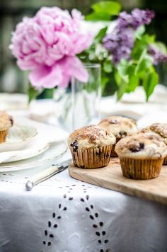 blueberry muffins for tea