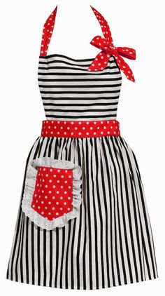 """Dorothy Red"" Retro Vintage Apron ~ for Valentine's Day ... #wedding wishlist #bridal shower gift"