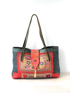 hmong bag hmong tote hill tribe bag ethnic bag by fairlyworn