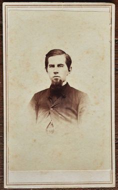 CDV Photo Man Chin Beard Goatee Sterlin Culver Woodstock Vermont Small Vignette