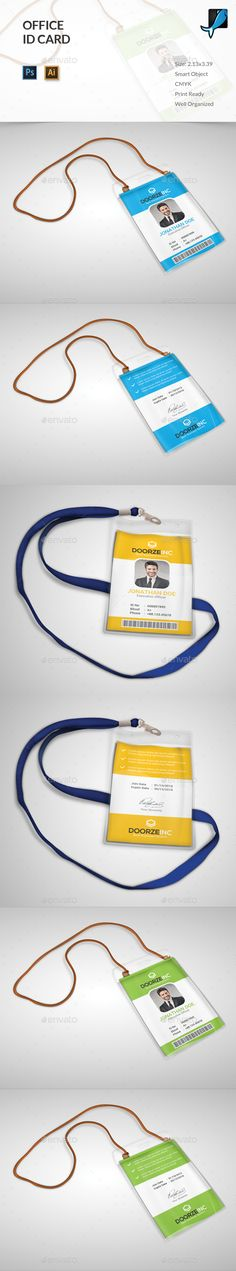 Office ID Card — Photoshop PSD #company #services • Available here → https://graphicriver.net/item/office-id-card/13813923?ref=pxcr