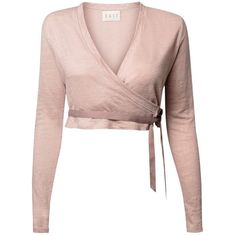 Miss Selfridge Cream Cashmere Wrap Cardi (1,070 MXN) ❤ liked on ...