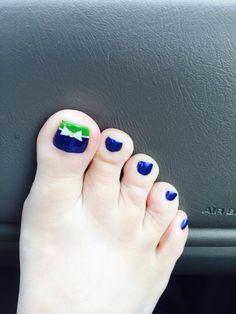 My SEAHAWKS nails!