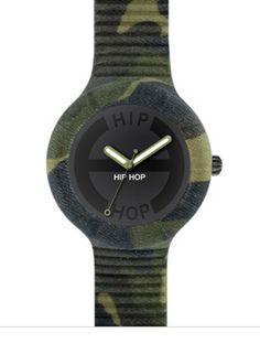 Hip Hop Orologio uomo Militare Camouflage HWU0365 Cassa da 42 mm