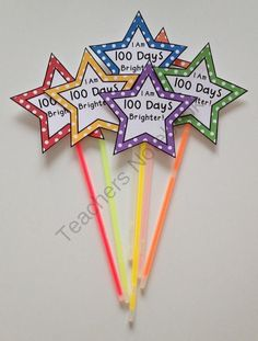 What a great idea! Use glow sticks for your 100th day of School - 100 days brighter theme! Teachers Notebook