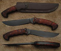 "Sayoc RnD Boontac. collaboration between Master Bladesmith Daniel Winkler and Trainer Rafael Kayanan. The Bontoc Knife is a reflection of Rafael's Filipino ancestry and martial arts training, as well as his keen understanding of edged tools and their use. Blade length of the Bontoc is 6 3/4"" with an overall length of approximately 12 1/4""."