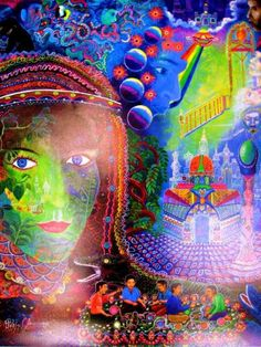Pablo Amaringo is the most popular visionary artist, and this painting is one of his latest before his death.