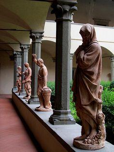 Chiostro del Santuario di Santa Maria dell'Impruneta -  Le quattro stagioni - Cotto