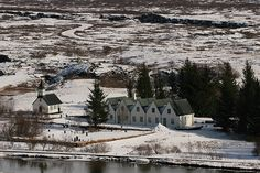 While visiting the Þingvallakirkja national park(pronounced Thingvellir) in Iceland, this was a small village, now abandoned near where the rift from moving tectonic plates occurred. Þingvallakirkja is where Iceland's parliament was first founded back in 930 A.D.  It's beautiful site.