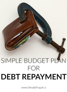 Simple Budget Plan For Debt Repayment