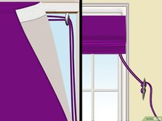 How to Make a Roman Shade. Unlike standard curtains and blinds, Roman shades create a smooth, streamlined silhouette and allow only the desired amount of light into a room. Roman Curtains, Roman Blinds, Curtains With Blinds, Drapes Curtains, Gypsy Curtains, Roman Shade Tutorial, Store Bateau, Diy Roman Shades, Diy Blinds