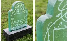 Seattle artist brings light to cemetaries with glass headstones.....when I go , this is what I want ! So pretty