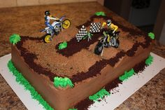 Dirt bike cake......Audrey I immediately thought of grant!!!