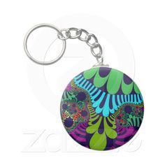 Customizable Jungle Night Mod Basic Button Keychain. Check this product out at www.zazzle.com/wonderart*