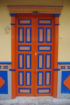 Decorated Door, Guatapé (Antioquia Department), Colombia.