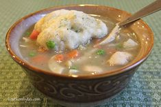 Heather's Bytes » Chicken Noodle Soup with Dumplings