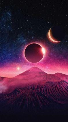 Moon Eclipse Art IPhone Wallpaper - IPhone Wallpapers