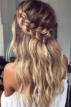 Messy Hair Loose Braid ❤️ Do you know how to create a crown braid? You should definitely learn about this pretty braiding technique. See cute styling options. ❤️ See more: https://lovehairstyles.com/ideas-crown-braid/ #lovehairstyles #hair #hairstyles #haircuts Wedding Hairstyles For Long Hair, Evening Hairstyles, Braided Hairstyles For Black Women, Older Women Hairstyles, Trendy Hairstyles, Pixie Hairstyles, Medium Long Hair, Long Hair With Bangs, Extensions For Thin Hair