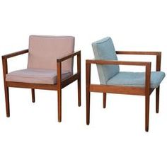 Pair of Mid-Century Modern George Nelson Armchairs