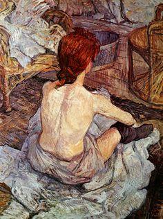 Después del baño. Toulouse Lautrec.