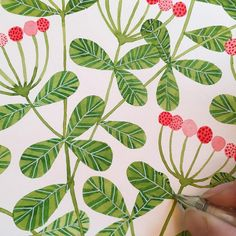 I just can't stop! I think this is the last detail I'll add, though. Illustration Blume, Pattern Illustration, Botanical Illustration, Watercolor Illustration, Watercolor Journal, Watercolor And Ink, Watercolor Flowers, Gouache Painting, Watercolor Paintings