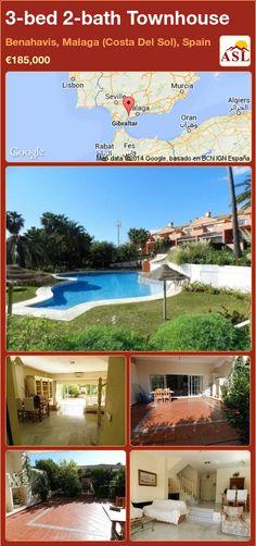 3-bed 2-bath Townhouse in Benahavis, Malaga (Costa Del Sol), Spain ►€185,000 #PropertyForSaleInSpain