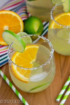 Make a white Margarita Sangria for your next party! This easy cocktail recipe is the perfect combination of a classic margarita and a delicious sangria recipe. Use white wine, tequila, and citrus fruit to make a classic margarita sangria on the rocks! Party Drinks, Cocktail Drinks, Fun Drinks, Alcoholic Drinks, Beverages, Sangria Drink, Drink Wine, Tequila Sangria, Easy Cocktails