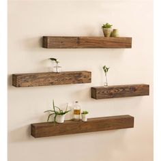 "Rustic Wooden Shelf, 42""L 
