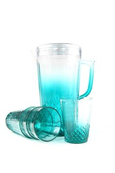 Punch on blue ombre water cut pitcher and tumblers #tableware #drinks #pitcher #tumblers #typoshop | Typo www.typo.com.au