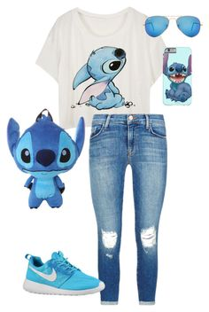 """Stich outfit :)"" by sophiewolf12 on Polyvore featuring Disney, J Brand, Ray-Ban, women's clothing, women's fashion, women, female, woman, misses and juniors"