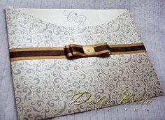 Dolce Vitta Convites: Convite de Casamento em Papel Perolado !!! - cod:037