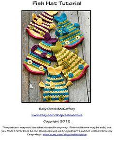 Crochet Fish Hat Pattern and Tutorial  pattern by Sally Gorski McCaffrey