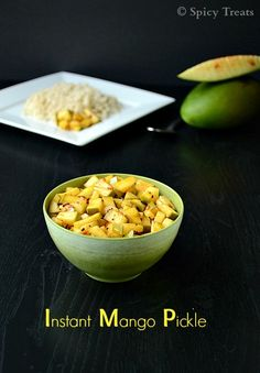 Spicy Treats: Instant Mango Pickle / Quick Mango Pickle / Raw Mango Pickle