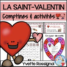 La Saint-Valentin et l'amitié Valentines Day Poems, Valentines Day Activities, Communication Orale, Reading Recovery, Core French, Kindergarten Classroom, Classroom Ideas, French Immersion, Teaching Resources