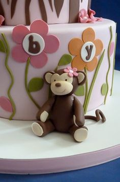 Adorable sugar paste Monkey  by Rebecca Sutterby of Sugar Creations